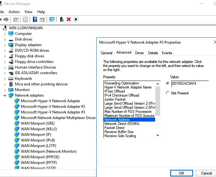 Give a static ip alias to some dhcp interface on home windows 8 (and above) - super user ten days you can set