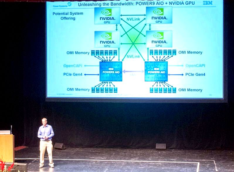 IBM Power9 Talk At Hot Chips 31 OpenCAPI And NVLink Accelerator Bandwidth