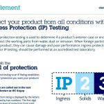 Ingress protection (ip) testing – iec 60529 testing