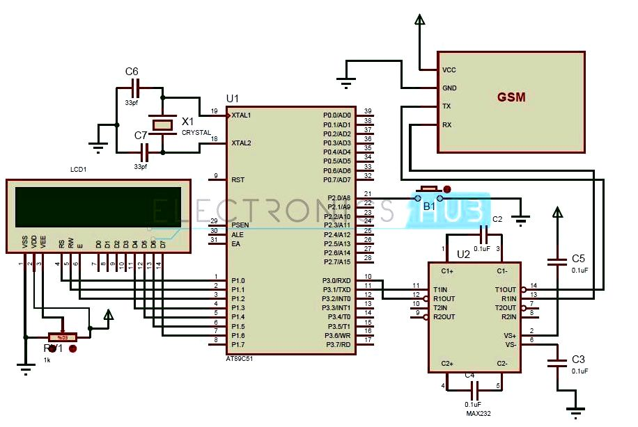 Max232 ic and interfacing needs with microcontroller Positive Current Multiplier Unit