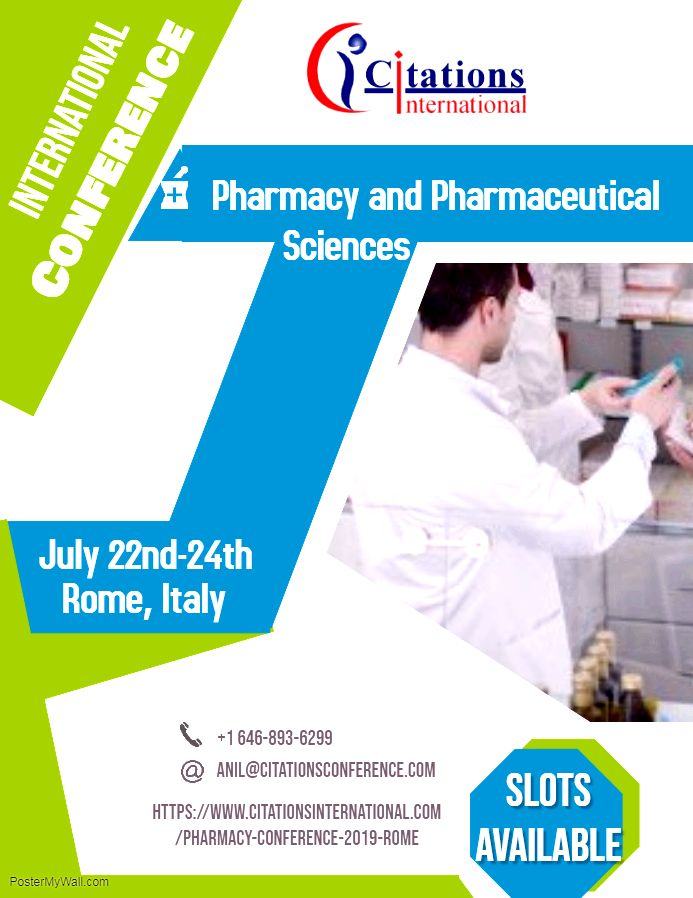 Pharmaceutical sciences conferences 2019 The organizing committee of the